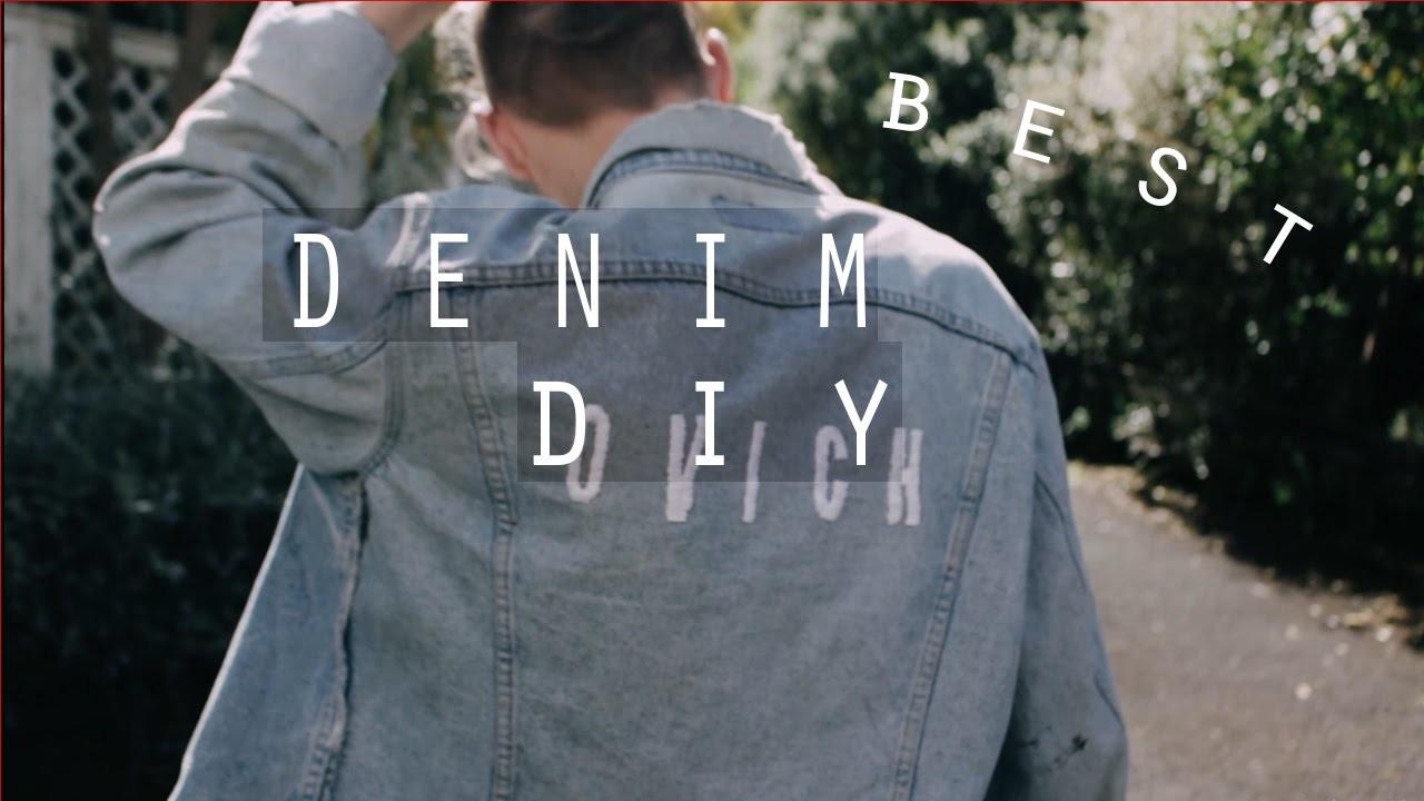 DIY Embroidered LEVI'S Vintage Denim Jacket   Men's Fashion   Zac Macfarlane