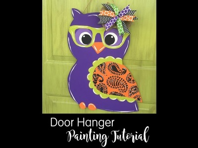 DIY Halloween Owl Door Hanger Painting Tutorial