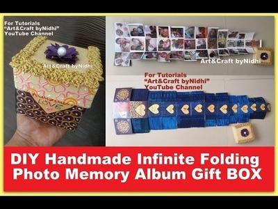 DIY Handmade Recycled Infinite Folding Photo Memory Album Gift BOX