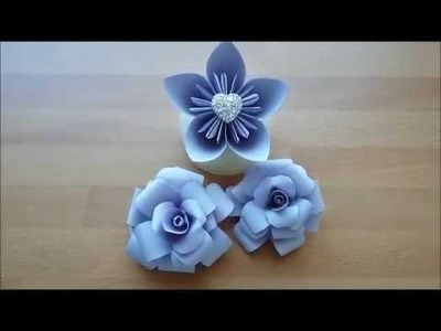 DIY How to make 1 Flower and 2 Roses from ONE A4 paper |  1 Blomma och 2 Rosor från 1 A4 papper