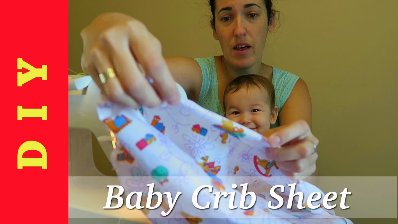 DIY - How to Make a Fitted Crib Sheet for Baby Nursery