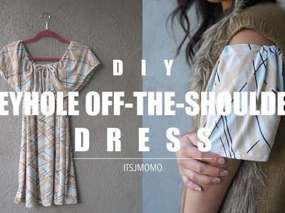 DIY How to Make a Keyhole Off-the-Shoulder Dress + Outfits