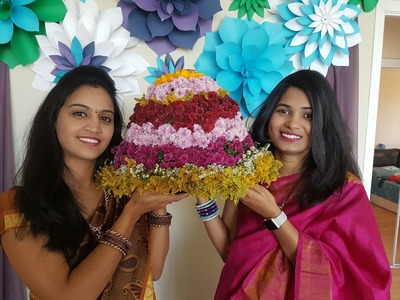 DIY : How to Make Bathukamma - won the best Bathukamma prize :)