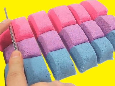 DIY How To Make Colors Kinetic Sand Clay Learn Colors Slime Jelly Syringe Toy | Yes, I Can | BINGO