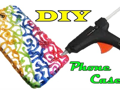DIY How to make Hot Glue Phone Case Life Hack
