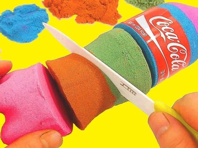 DIY How To Make Kinetic Sand Rainbow Colors Coca Cola Learn Recipe Toy   Twinkle Twinkle Little Star