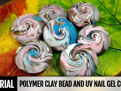 DIY How to make smooth and shiny coat for polymer clay beads with UV nail gel coating