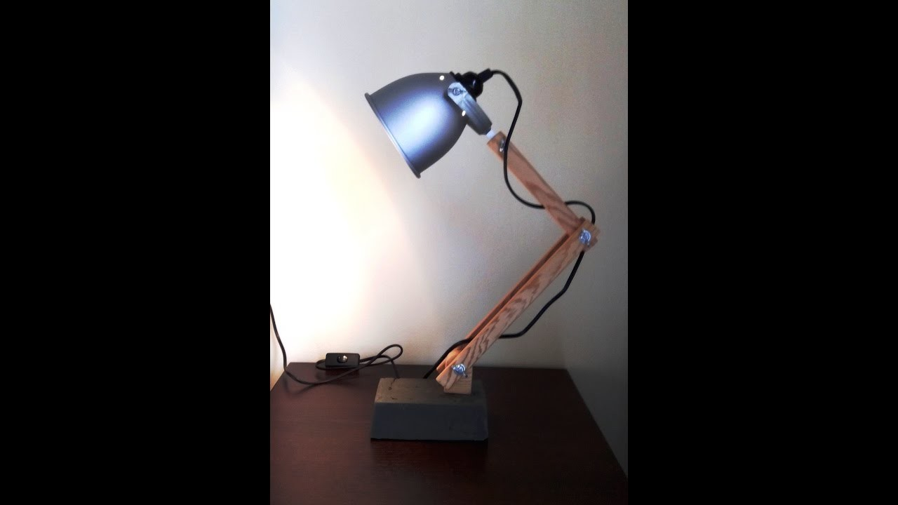 DIY industrial bedside lamp how to Simply Make it