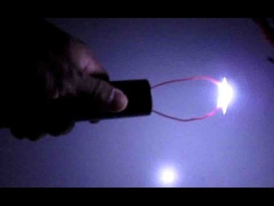 DIY: Make a Taser Gun -Sparks Generator.Ignitor + LED Flash light for less than $4, powered by 18650