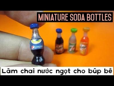 DIY Miniature Soda Bottles for Doll. Đồ chơi trẻ em làm chai nước ngọt cho búp bê. Ami DIY