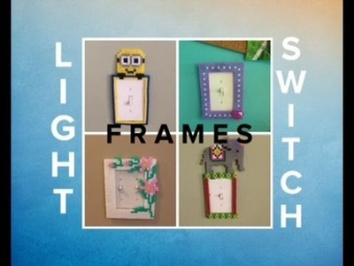 DIY Perler Bead Light Switch Frames.Flower, Minion, Elephant, and More Unique Room Projects!!
