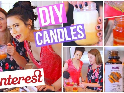 DIY Pinterest Inspired Fall Candles TESTED!