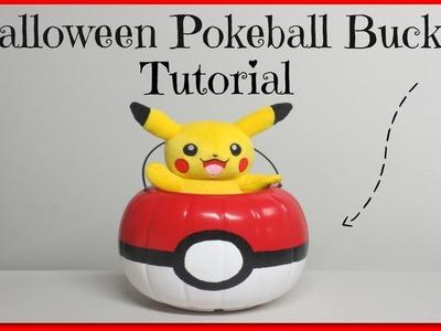 DIY Pokeball Halloween Candy Bucket Tutorial!