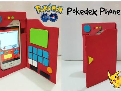 DIY pokemon go Phone case.DIY Pokedex phone case. cardboard Phone case
