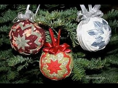 DIY- Quilted Christmas Ornament