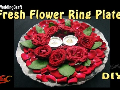 DIY Ring Plate Decoration with fresh flowers | How to make | JK Wedding Craft 112