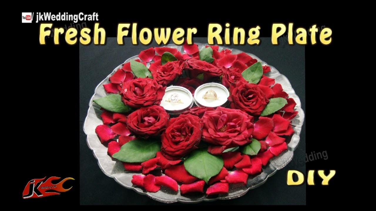 DIY Ring Plate Decoration with fresh flowers   How to make   JK Wedding Craft 112