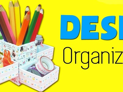 DIY School Supplies | DIY Desk Organizer |  DIY Pencil Holder