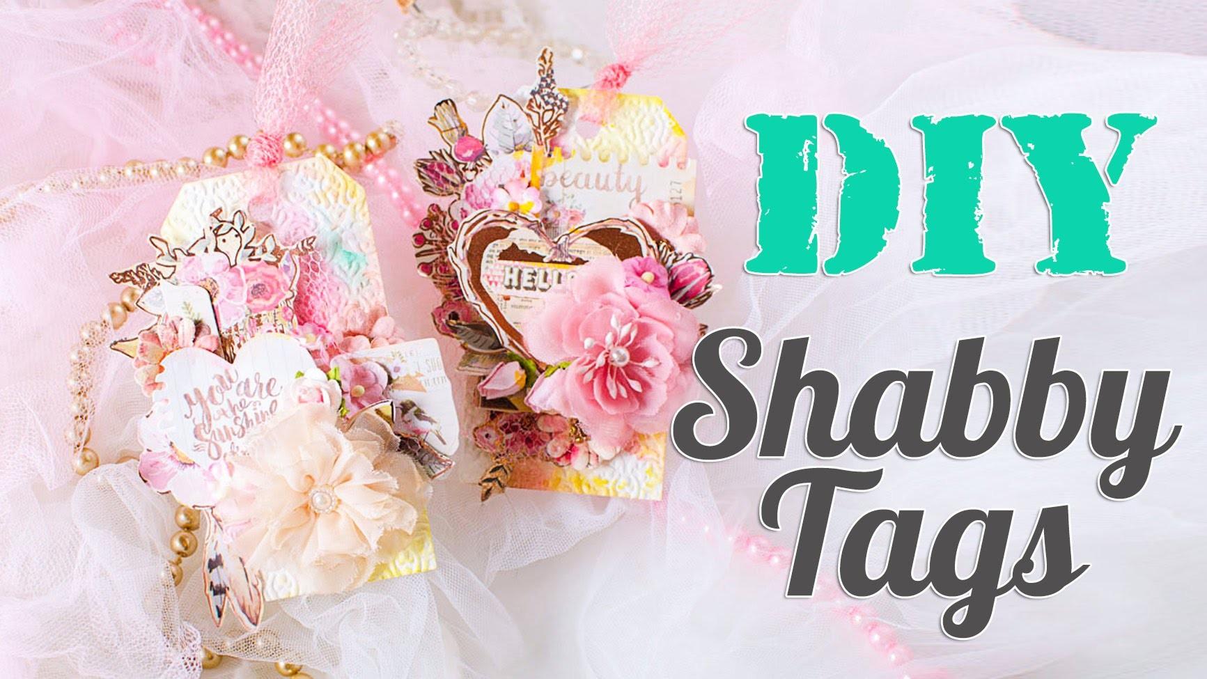 DIY. Shabby Tags. Scrapbook tutorial. Scraps Of Darkness September 'Blush' Kit