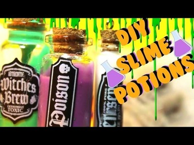 DIY SLIME POTIONS ?!!. How to make slime potions for Halloween. Diys by Abraham