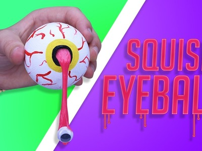DIY SQUISHY SLIME EYEBALL!? - Make your own GRUESOME GIFT eyeball for HALLOWEEN!