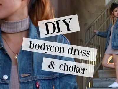 DIY TRANSFORMATION | bodycon dress & choker | sew&tell