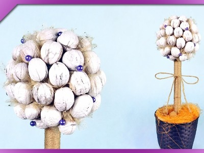 DIY Walnut tree, autumn decoration (ENG Subtitles) - Speed up #260