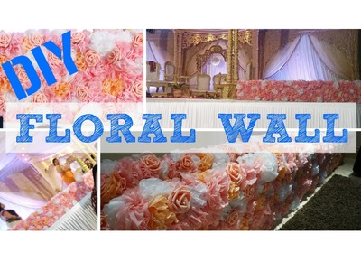 DIY Wedding Flower Wall Centerpeice-How to Tissue paper giant pom poms Indian decor floral ideas