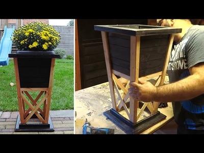 DIY Wood Flower Pot From Scrap