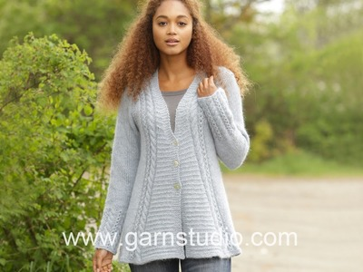 DROPS Knitting Tutorial: How to work chart A.1 for the jacket in DROPS 171-3