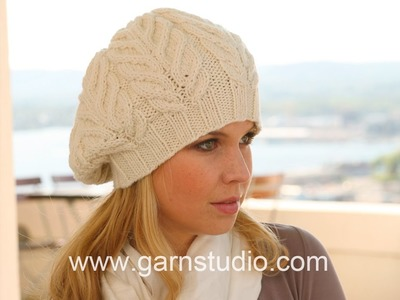 DROPS Knitting Tutorial: How to work chart M.2 for the basque hat in DROPS 123-20