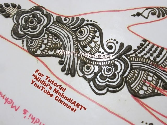 Easy Diy Arabic Front Hand Strip Henna Mehndi Design Tutorial
