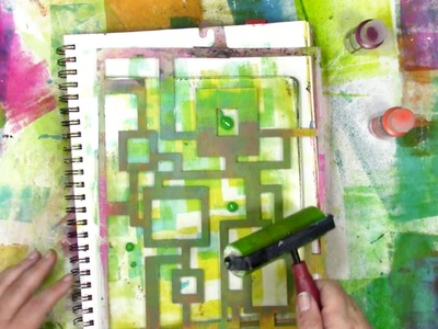 How a Gel Plate Helps Me Play in my Art Journal