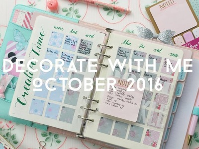 HOW I SET UP MY MONTHLY PAGES IN MY KIKKI.K PLANNER || DECORATE WITH ME
