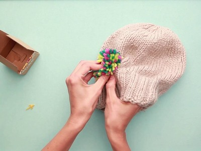 How to add a pom pom on your hat