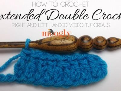 How to Crochet: Extended Double Crochet (Left-Handed)