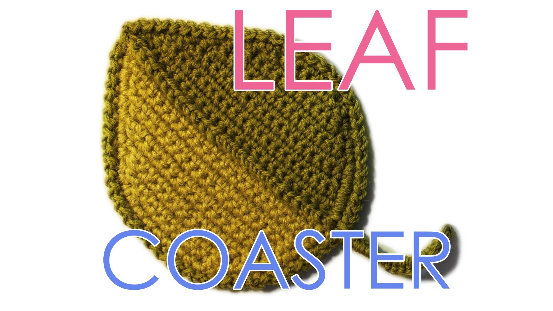 "How to Crochet Pattern ""Leaf Coaster"""