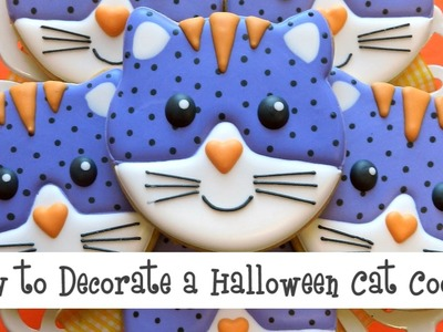 How to Decorate a Halloween Cat Face Cookie