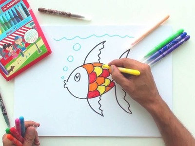 How to draw a fish (STABILO Tutorials, drawing beginners)