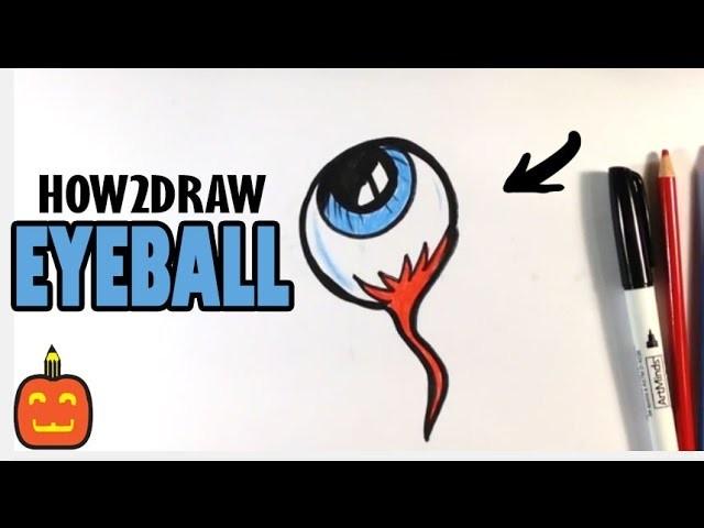 How To Draw A Spooky Eyeball Halloween Drawings