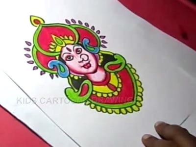 How to Draw Hindu Goddess Durga Drawing Step by Step