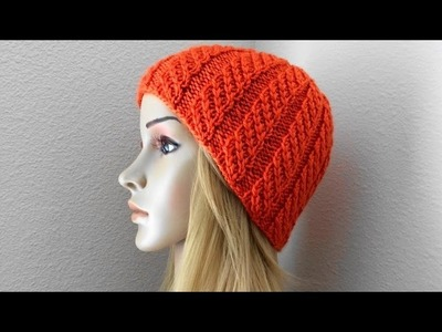 How To Knit A Crossed Broken Rib Hat, Lilu's Handmade Corner Video # 112