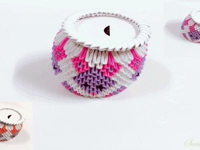 How to make 3d origami money box 2