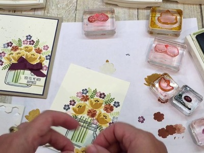 How to make a beautiful Jar of Love card with a Fall Flair