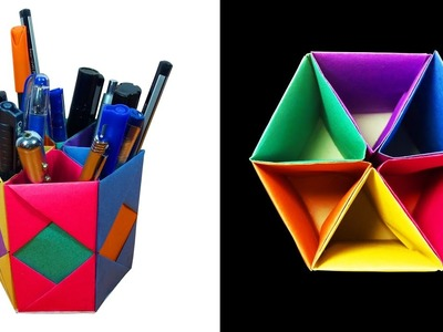 How to Make a beautiful Pen. Pencil Container or stand with 6 Storage box - HD