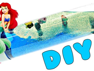 How To Make a Glittery Ocean In A Bottle filled with Toys | Fun DIY Kids Crafts with DCTC