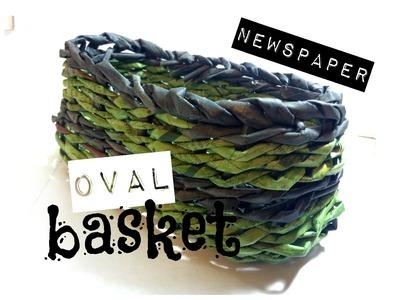 How to make a Newspaper Basket   Oval shaped