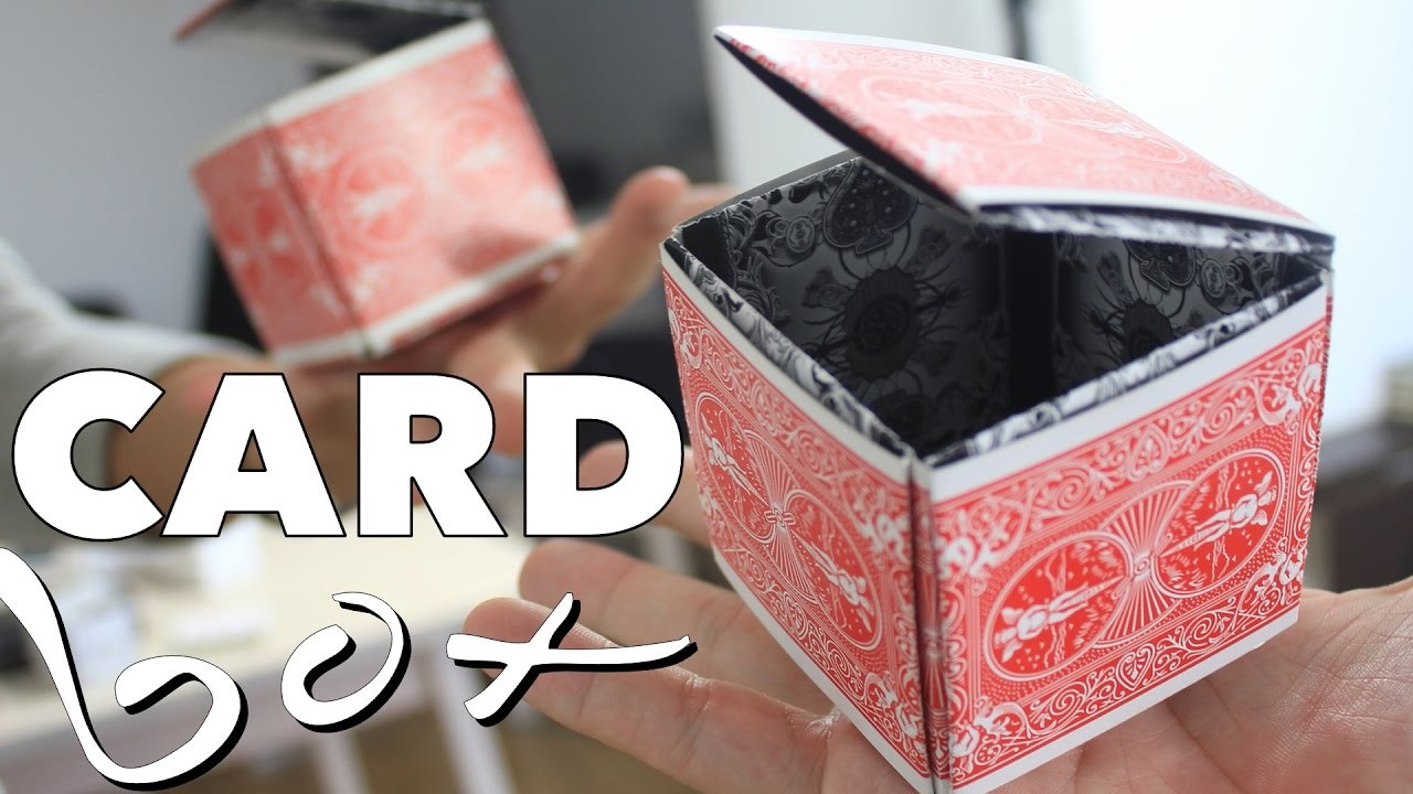 How to Make a Playing Card Box that Opens and Closes