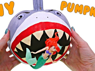 How To Make a Shark Pumpkin for Halloween | No Carve Pumpkin DIY Crafts for Kids with DCTC