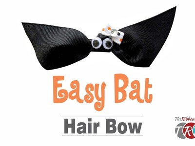 How to Make an Easy Bat Hair Bow - TheRibbonRetreat.com